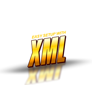 Easy to setup with Xml